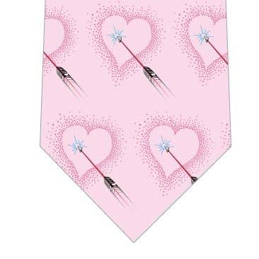 ハートを射る矢ネクタイ(ピンク)の写真