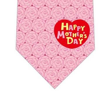 薔薇いっぱい母の日ネクタイ(ピンク)の写真