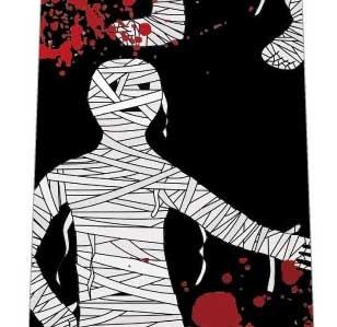 ハロウィンネクタイ(ミイラと血のり・黒)の写真