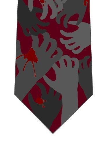 ハロウィンネクタイ(血だらけの手)の写真