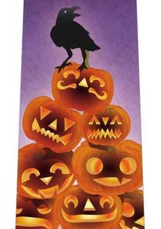 ハロウィン(カボチャの上に乗るカラス)ネクタイの写真