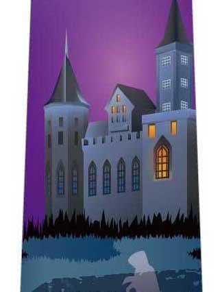 ハロウィン(聳え立つ城)ネクタイの写真