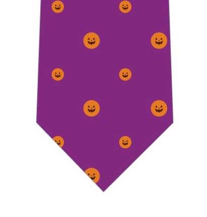 ハロウィンドットネクタイ(紫)の写真