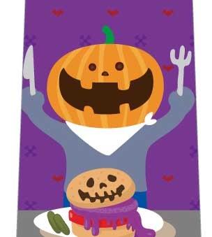 ハロウィン食事ネクタイの写真