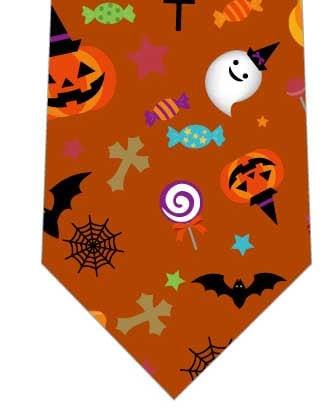 ハロウィン詰め込みネクタイ(樺色)の写真
