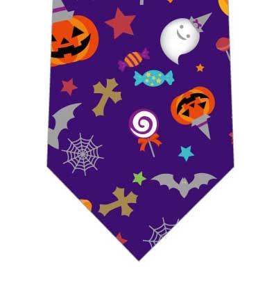 ハロウィン詰め込みネクタイ(紫)の写真
