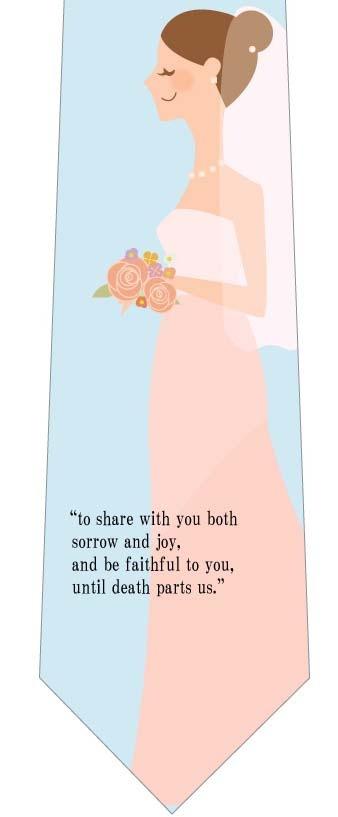 花嫁と誓いの言葉ネクタイの写真