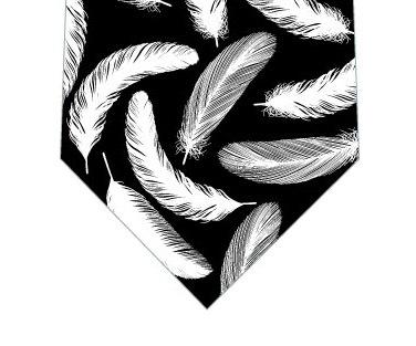 羽根ネクタイ(黒)の写真