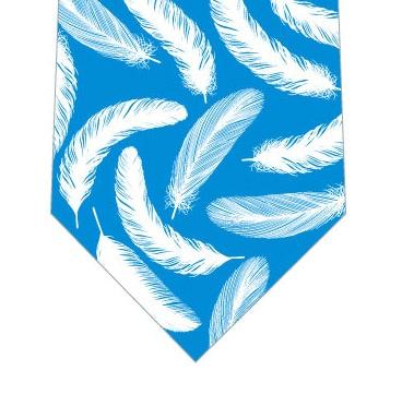 羽根ネクタイ(水色)の写真