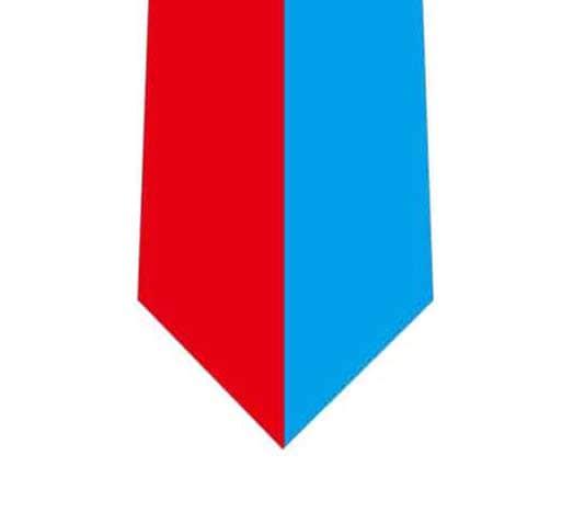 ハーレイクイン風バイカラーネクタイの写真