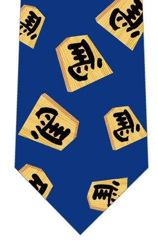 左馬ネクタイ(青)の写真