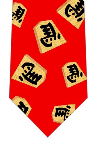 左馬ネクタイ(赤)の写真