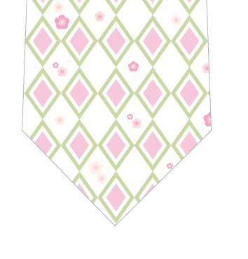 ひな祭りダイヤ柄ネクタイの写真