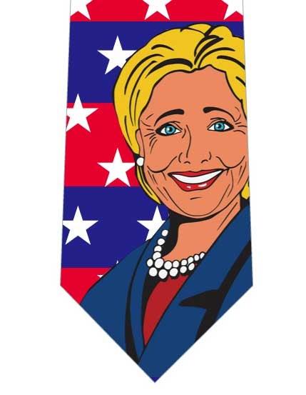 ヒラリークリントン氏応援ネクタイの写真