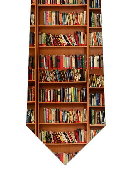 本棚ネクタイの写真