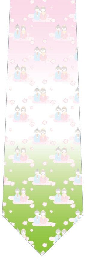 ほんわりひな祭りネクタイ(三色)の写真