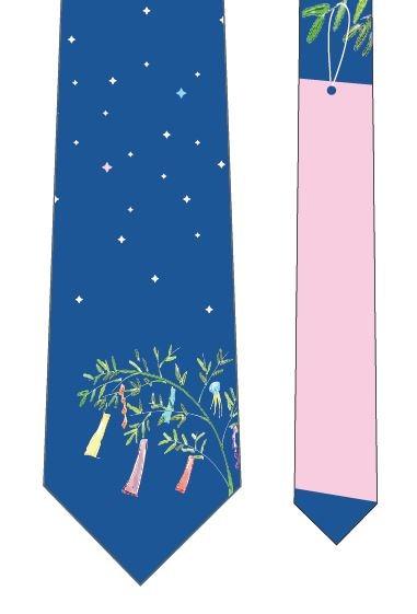 星に願いを短冊ネクタイ(ピンク)の写真