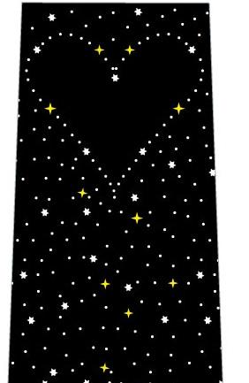 星空にハート(黒)ネクタイの写真