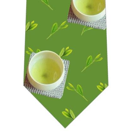 ほっと一息日本茶ネクタイ(中)の写真