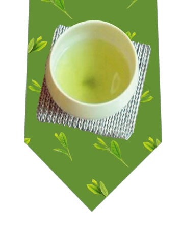 ほっと一息日本茶ネクタイ(大)の写真