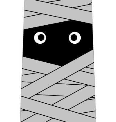 包帯ぐるぐるミイラネクタイの写真
