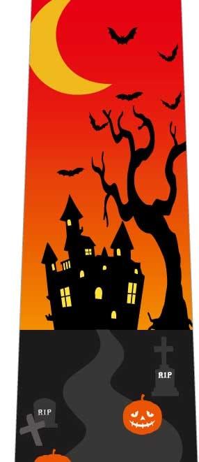 かぼちゃおばけゴロゴロネクタイ(オレンジ×黄色)の写真