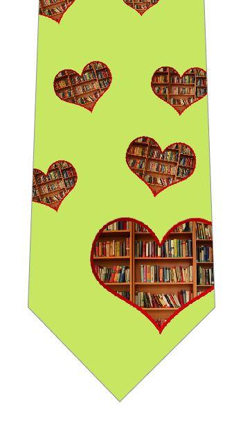 アイラブ読書ネクタイの写真