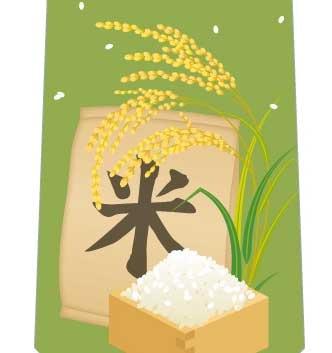 稲と米ネクタイの写真