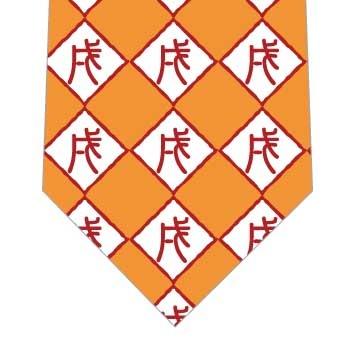戌ダイヤネクタイ(オレンジ)の写真