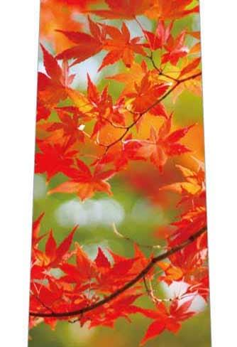 色鮮やかな紅葉ネクタイの写真