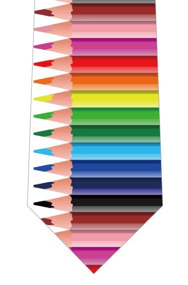 色鉛筆ネクタイの写真