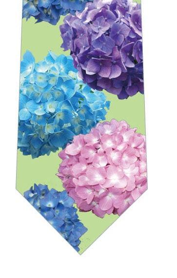 色とりどりの紫陽花ネクタイ(写真)緑の写真