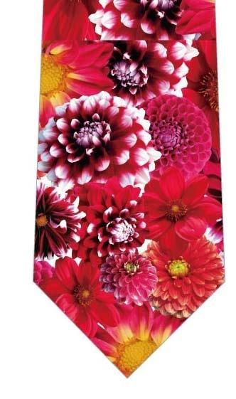 色とりどりのダリアネクタイの写真