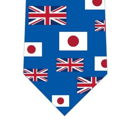 日本とイギリス国旗ネクタイ(横・青)の写真