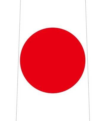 日本国旗ネクタイの写真