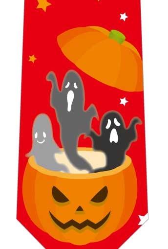 かぼちゃの中からおばけネクタイ(赤)の写真