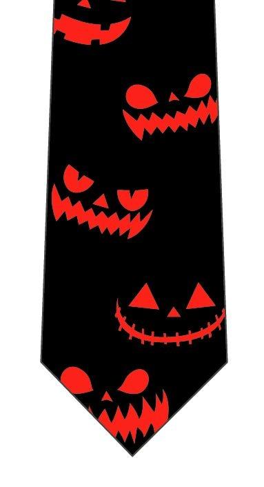 ハロウィンネクタイ(かぼちゃおばけの顔)の写真