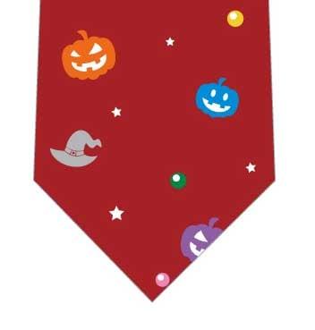 かぼちゃと魔女帽子ネクタイ(エンジ)の写真