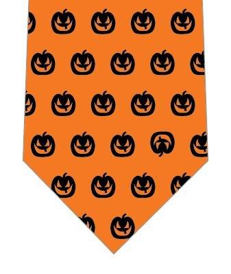 ハロウィンネクタイ(かぼちゃドット)の写真