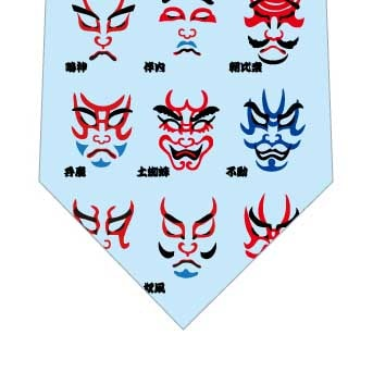 歌舞伎隈取ネクタイ(水色)の写真