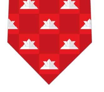 カブトネクタイ(ブロック・赤)ネクタイの写真