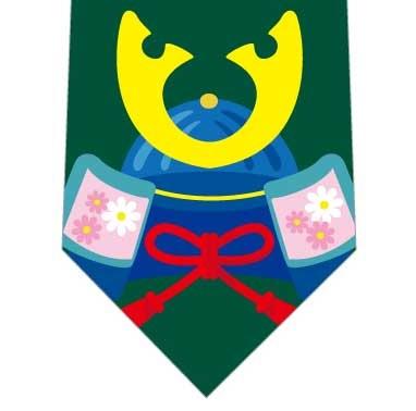 兜並んだネクタイ(緑)の写真