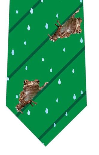 カエルストライプネクタイ(緑)の写真