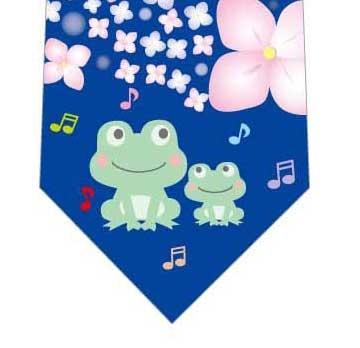 カエルの合唱ネクタイ(青)の写真