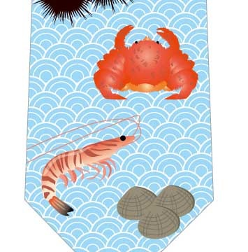 海鮮ネクタイの写真