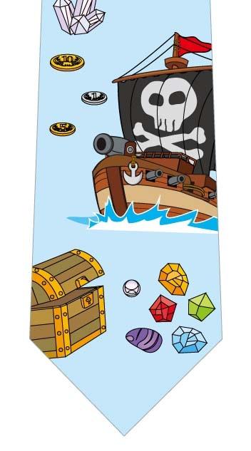 海賊船とお宝ネクタイの写真