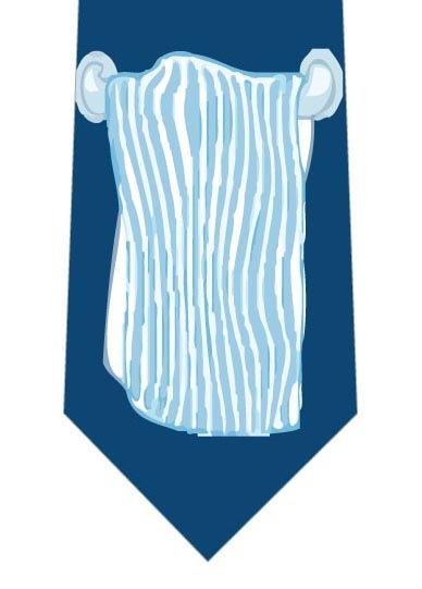 掛けられたタオルネクタイ大(紺)の写真