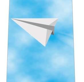 紙飛行機ネクタイの写真