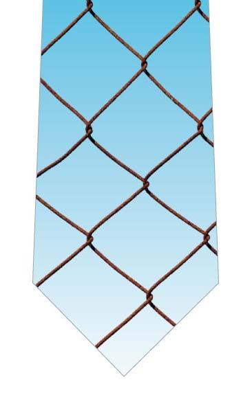 金網ネクタイの写真