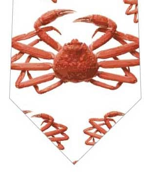 蟹ネクタイ(白)の写真
